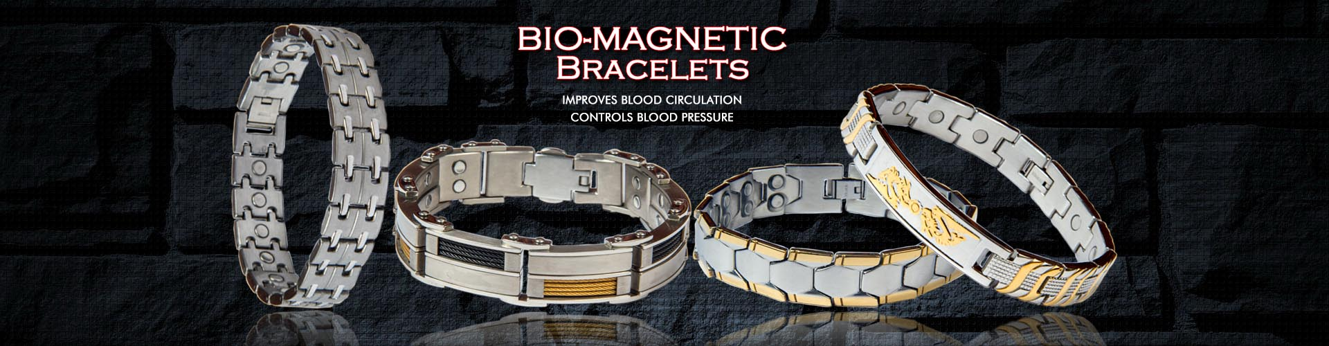 Moksh Trade International for Titanium magnetic Bracelet /></li>